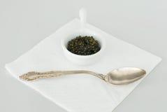ложка икры серебряная Стоковая Фотография