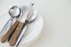 Ложка и нож вилки Стоковые Изображения