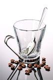 ложка кофейной чашки фасолей пустая Стоковое Изображение