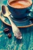 Ложка кофе, конец-вверх Стоковое фото RF