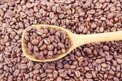 ложка кофе фасолей Стоковые Фото