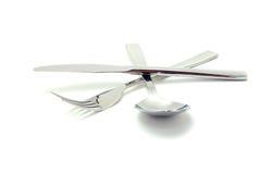 ложка ножа вилки стоковые изображения rf