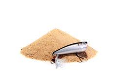 ложка песка крюка стоковые изображения rf