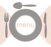 ложка плиты меню вилки бесплатная иллюстрация