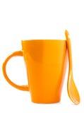 ложка померанца чашки Стоковые Изображения RF