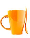 ложка померанца чашки Стоковые Фотографии RF