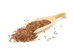 Ложка с льняным семенем Стоковая Фотография