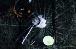 Ложка шприца лекарства концепции великолепная стеклянная Стоковая Фотография RF