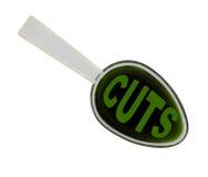 Ложка экономической медицины - изолированных бюджетных сокращений Стоковые Изображения