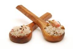 ложки солей для принятия ванны Стоковое Фото