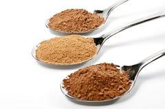 ложки циннамона cacao Стоковое Изображение RF