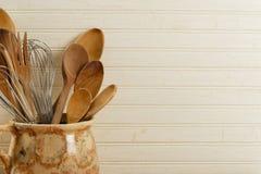 ложки юркнут провод деревянный Стоковые Фотографии RF