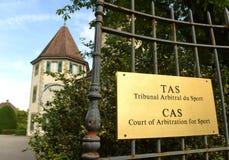 Лозанна, Швейцария - 5-ое июня 2017: Суд арбитража для стоковое изображение rf