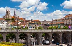 Лозанна, Швейцария Стоковое фото RF