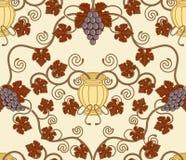 лоза урны плитки красивейших листьев конструкции безшовная Стоковое Фото