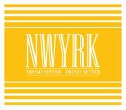 Лозунг Нью-Йорка для печатания футболки, графического тройника и напечатанного тройника бесплатная иллюстрация