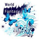 Лозунг рубашки фантазии мира иллюстрация штока