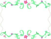 лозы зеленого цвета рамки цветков Стоковые Фото