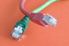 локальные сети кабеля Стоковое Изображение