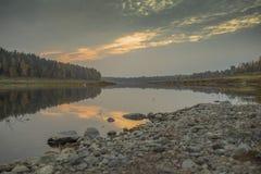 Локи западных Двин заповедника на западной Двине реки в Латвии Стоковое Изображение RF