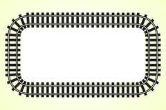 Локомотивная граница перехода рамки железнодорожного пути Стоковая Фотография RF