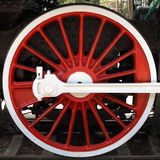 локомотивное красное колесо Стоковые Изображения