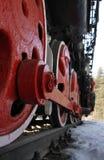 локомотивное старое колесо Стоковое Изображение