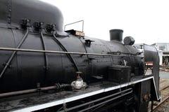 Локомотив пара в сарае локомотива пара Umekoji, Киото Стоковое Изображение