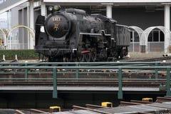 Локомотив пара в сарае локомотива пара Umekoji, Киото Стоковая Фотография