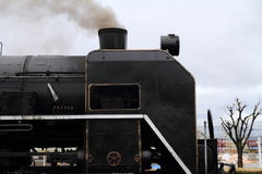 Локомотив пара в сарае локомотива пара Umekoji, Киото Стоковые Фотографии RF