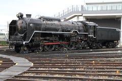 Локомотив пара в сарае локомотива пара Umekoji, Киото Стоковое фото RF