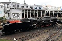 Локомотив пара в сарае локомотива пара Umekoji, Киото Стоковые Изображения