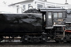 Локомотив пара в сарае локомотива пара Umekoji, Киото Стоковые Фото