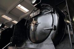 Локомотив пара в сарае локомотива пара Umekoji, Киото Стоковые Изображения RF