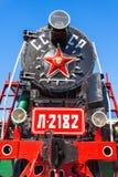 Локомотив пара в Улан-Удэ Стоковое Изображение RF