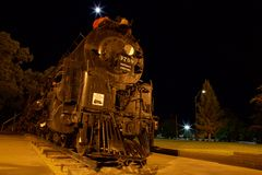 Локомотив пара на ноче Стоковое Фото