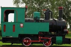 Локомотив пара узкой колеи стоковое фото rf