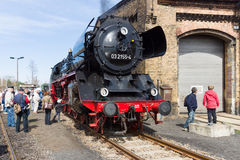Локомотив пара Borsig 03 2155-4 (класс 03 DRG) Стоковые Изображения RF