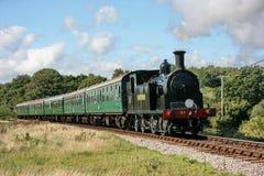 Локомотив пара Drummond M7 нет замок на железной дороге Swanage - замок Corfe 53 подходов Corfe, Дорсет, Великобритания - 18-ое а стоковое фото