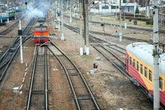 Локомотив пассажирского поезда Стоковое фото RF