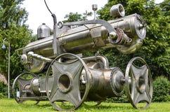 Локомотив, скульптура Альбертом Sous Стоковая Фотография