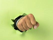 ломать бумагу руки Стоковое фото RF
