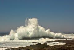 ломать волны берега океана Стоковая Фотография