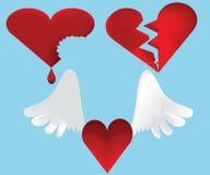 ломать комплект иконы сердец Стоковая Фотография