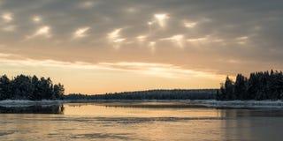 Ломать Солнце Стоковая Фотография RF