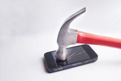 Ломая телефон Стоковые Изображения RF