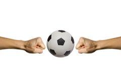 ломая футбол Стоковые Изображения