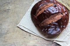 Ломоть хлеба и пшеница ушей Стоковая Фотография RF