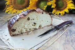 Ломоть хлеба и пшеница ушей Стоковое Изображение RF