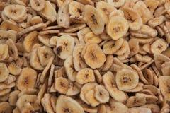 ломтики высушенные бананом стоковые изображения rf